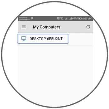Setup remote desktop android app