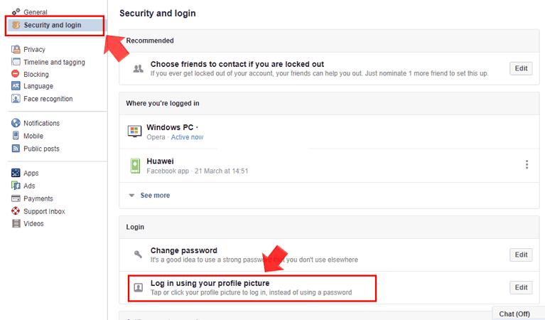 Facebook Security and Login