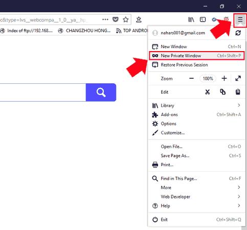 Incognito Mode Firefox