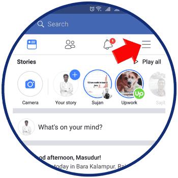 Facebook App Menu