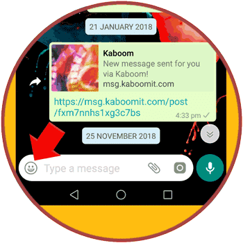 WhatsApp Emoji Option