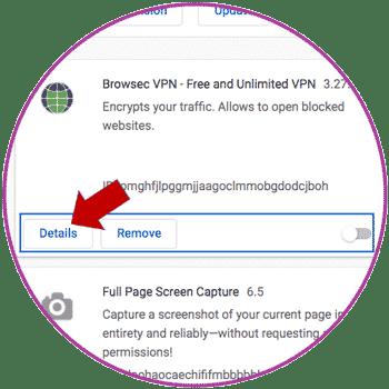 Chrome Extension Details