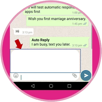 Display of Empty Message on WhatsApp