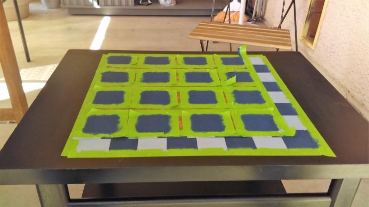 DIY checker Board Table