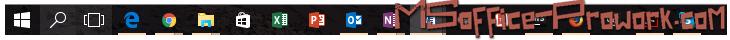 Excel закреплен на панели задач
