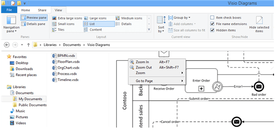 ms visio preview
