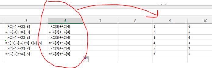 Ссылки R1C1 в MS Excel