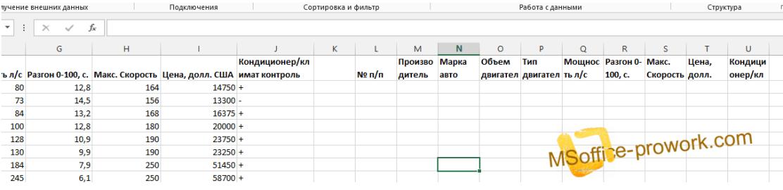 Размещение диапазона условий расширенного фильтра MS Excel