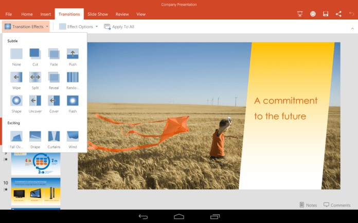 PowerPoint для Android