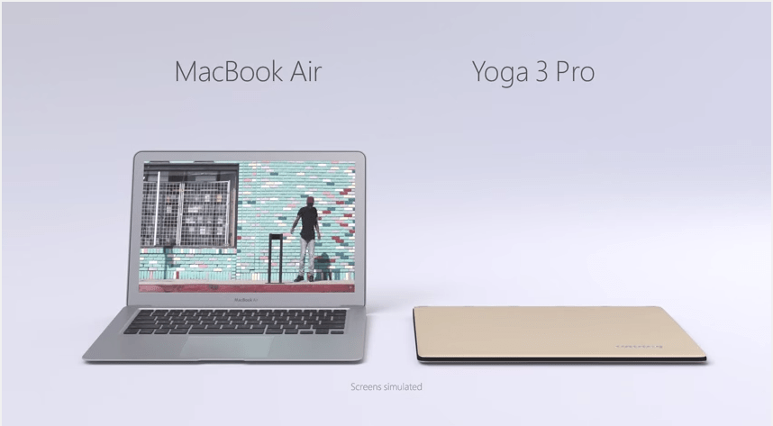 Lenovo Yoga 3 Pro и MacBook Air