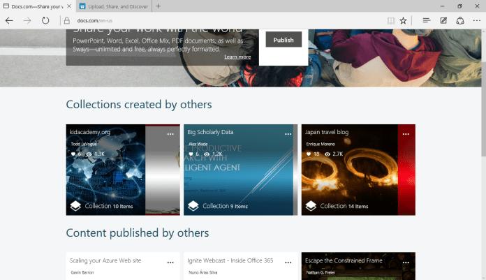 Docs.com в 2015 году