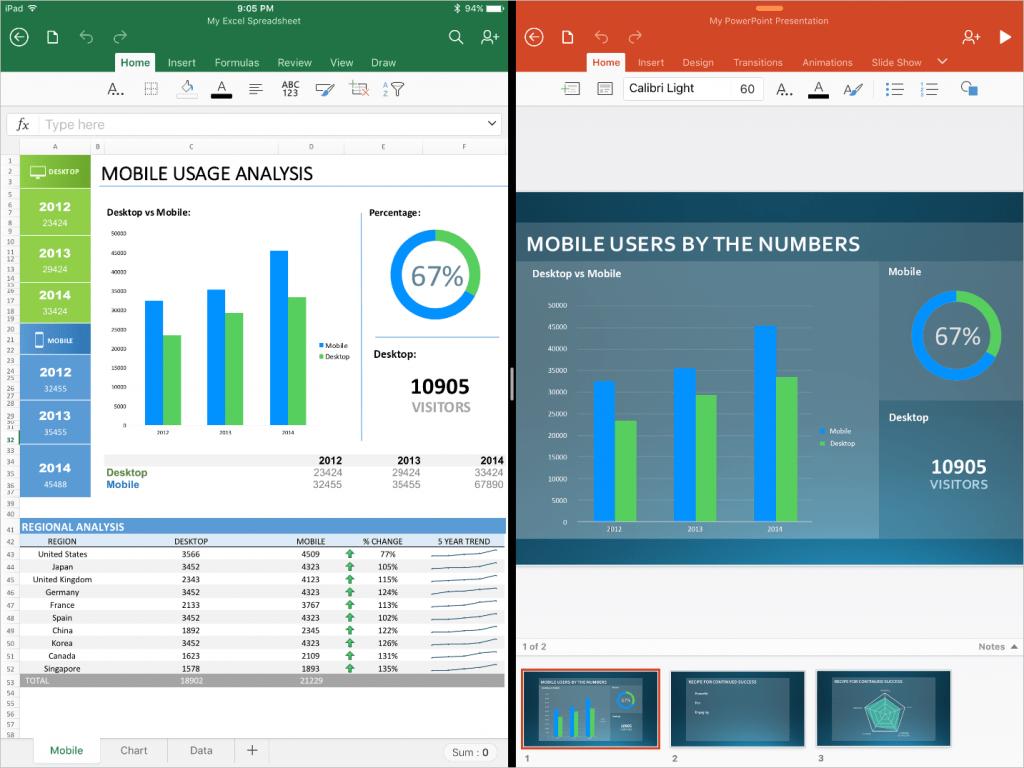 Split View Office для iPad Pro