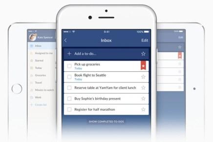 В Wunderlist для iPhone обновился интерфейс и добавилась поддержка Force Touch