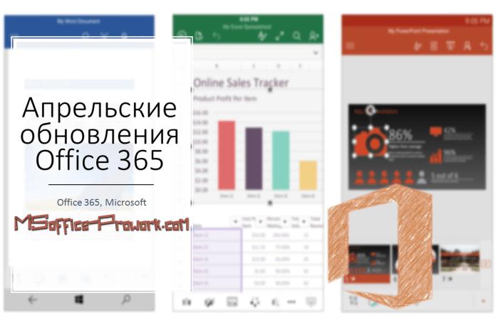 Апрельские обновления Office 365