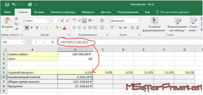 """При использовании """"Таблица данных"""" не важен тип ссылок в формуле"""