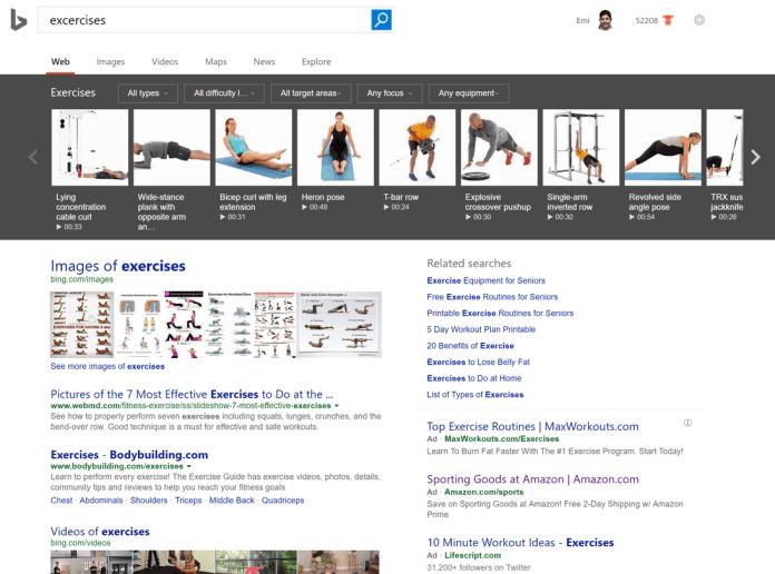 упражнения Bing