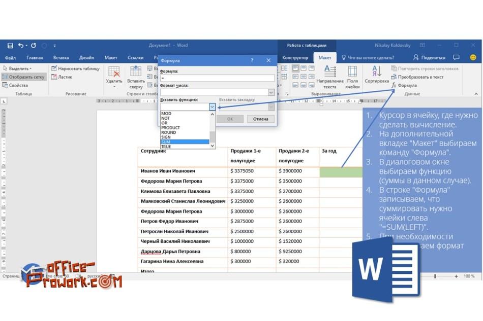 Вычисления в MS Word или используем Word в качестве калькулятора