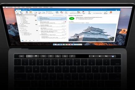 В Outlook для Mac добавлена поддержка Touch Bar и надстроек (add-ins)