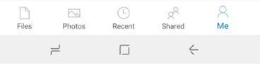 Нижнее меню нового OneDrive