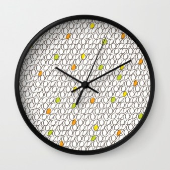Wall Clock - Colourful Coffee Beans