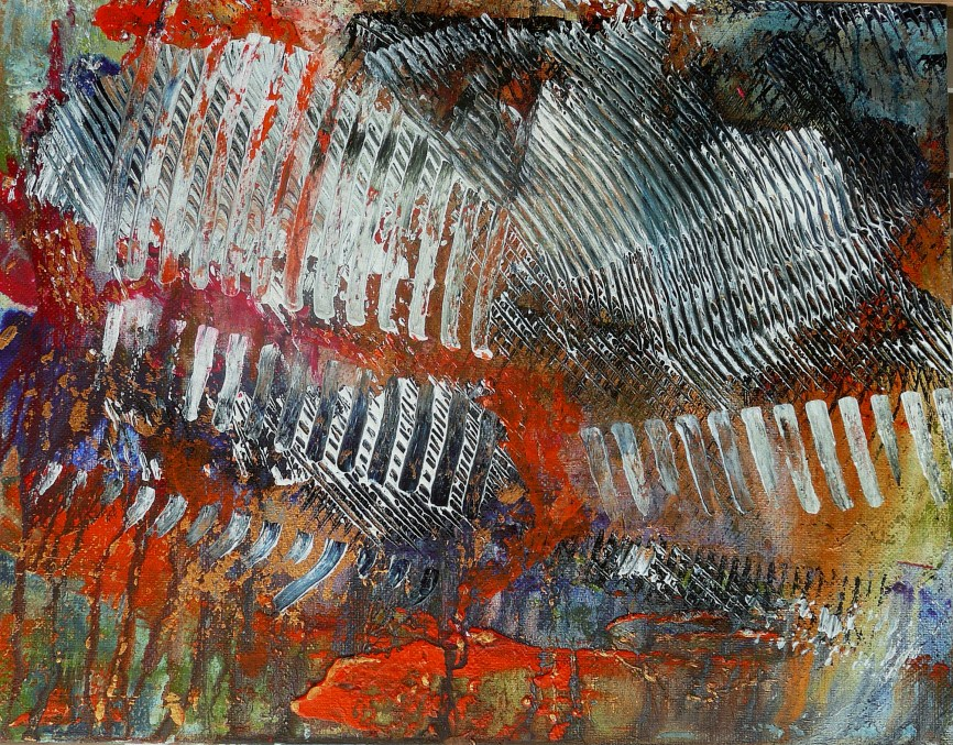 Emotionally Drained - Rewarded in 2014 Abstract Competition - Light, Space, Time online (8 th place in Painting category and 10th Overall)