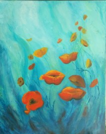 "24""x30"" Gallery Wrap ROMI Ariel's poppies"