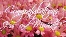 congrats, jess and michael!