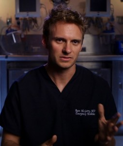 Ryan McGarry, M.D., Director of CODE BLACK. Courtesy of Music Box Films