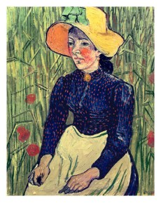 vincent-van-gogh-young-peasant-girl-in-a-straw-hat-sitting-in-front-of-a-wheatfield-1890-oil-on-canvas