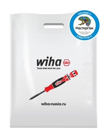 Пакет из ПВД с логотипом WIHA, 70 мкм, 30*40, белый