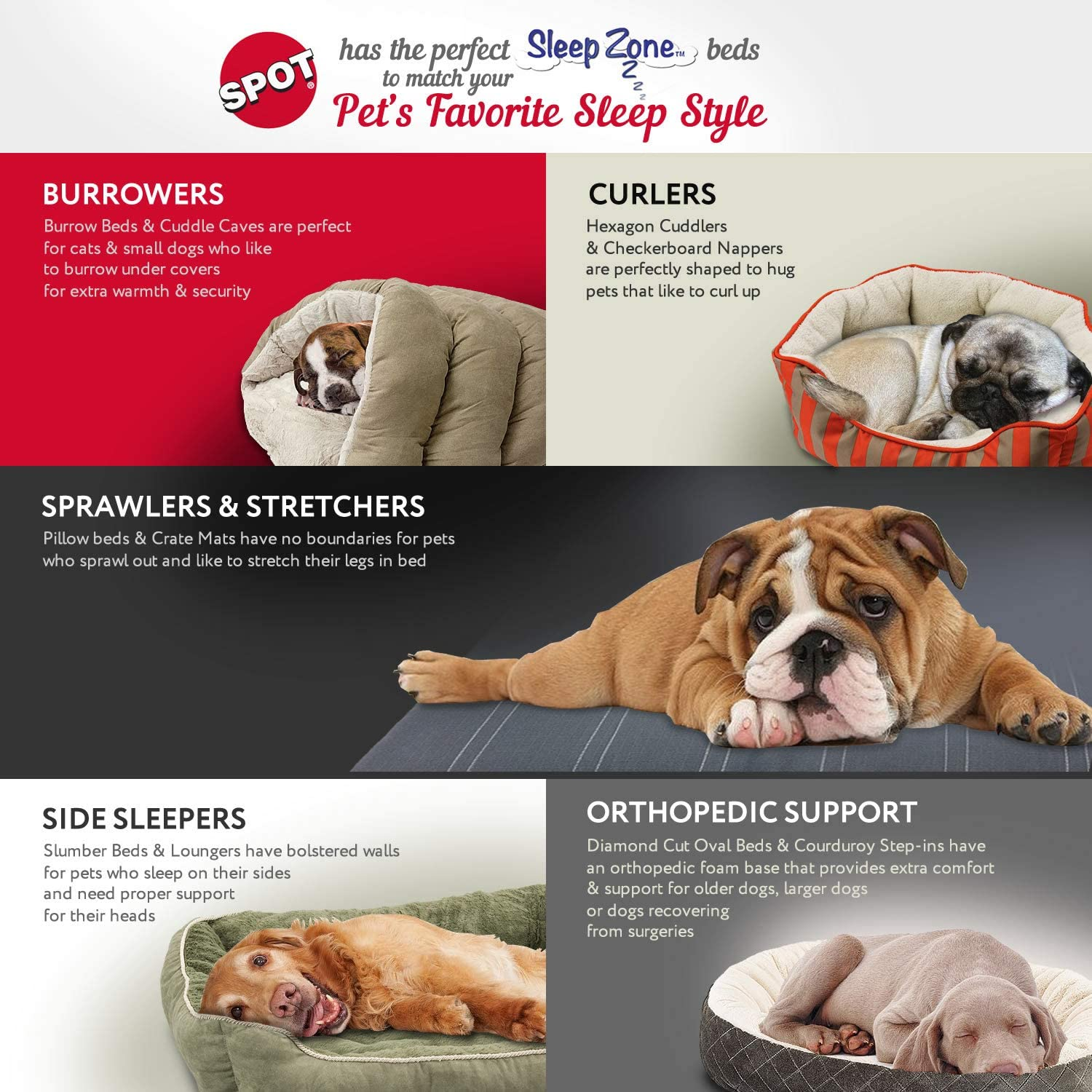 sleep zone dog pillow bed attractive durable comfortable washable