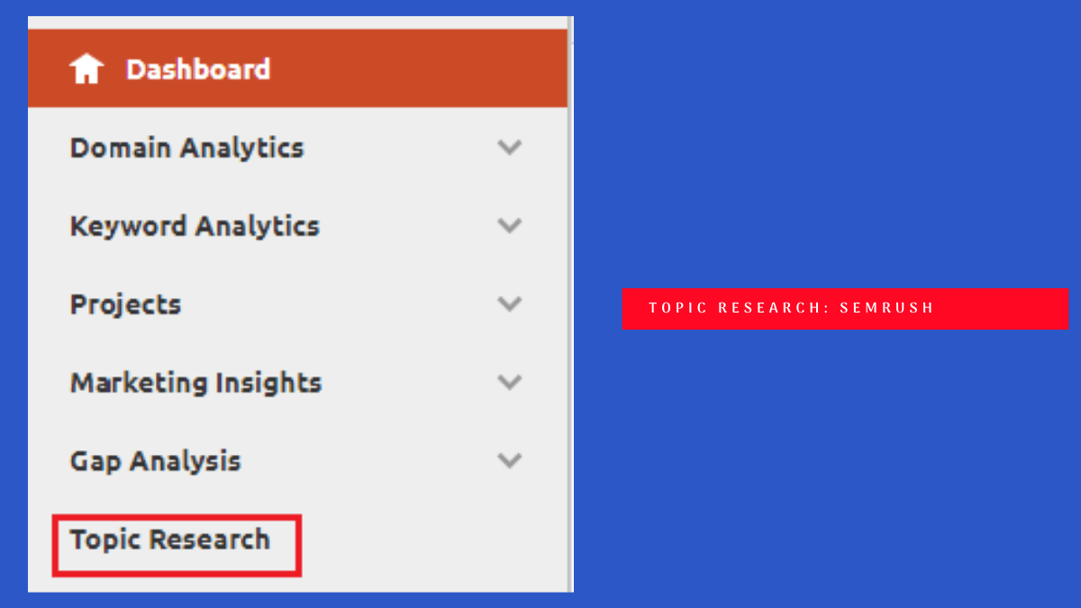 content research : semrush topic research