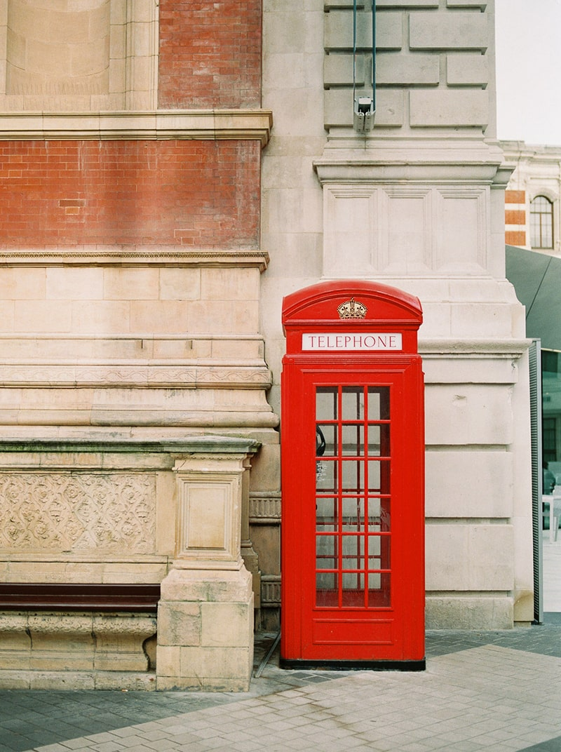 Ms Pollyanna | British Phone Booth in Red
