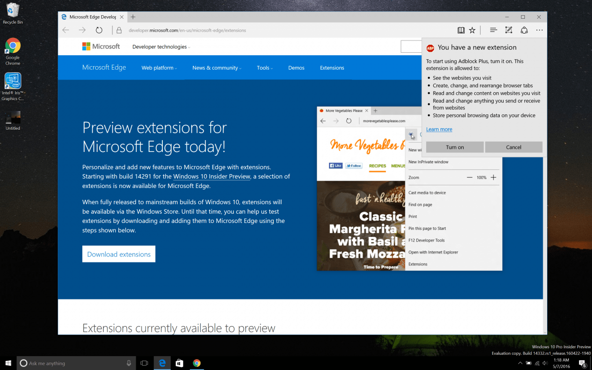 AdBlock and AdBlock Plus now available for Microsoft Edge on Insider builds