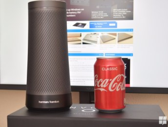 Invoke's size compared to a Coca Cola can