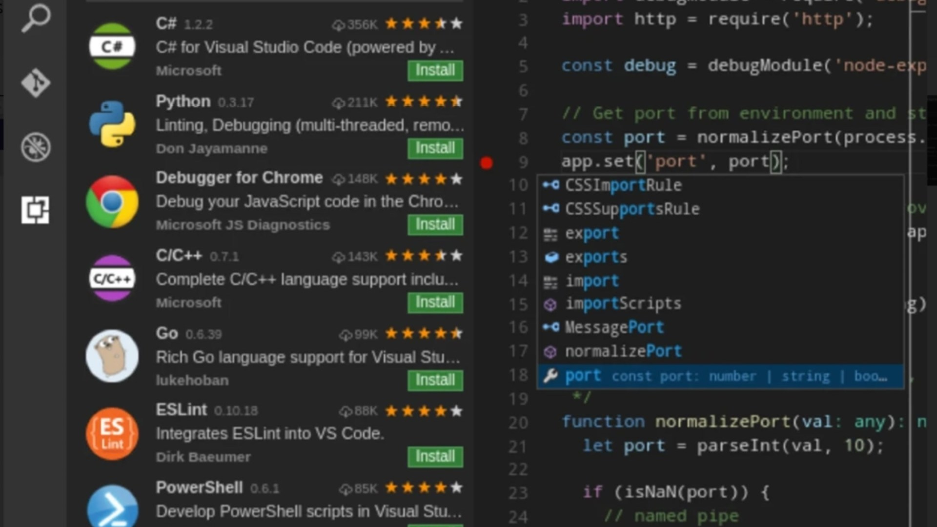 Microsoft Visual Studio Code is now available for Linux as a snap