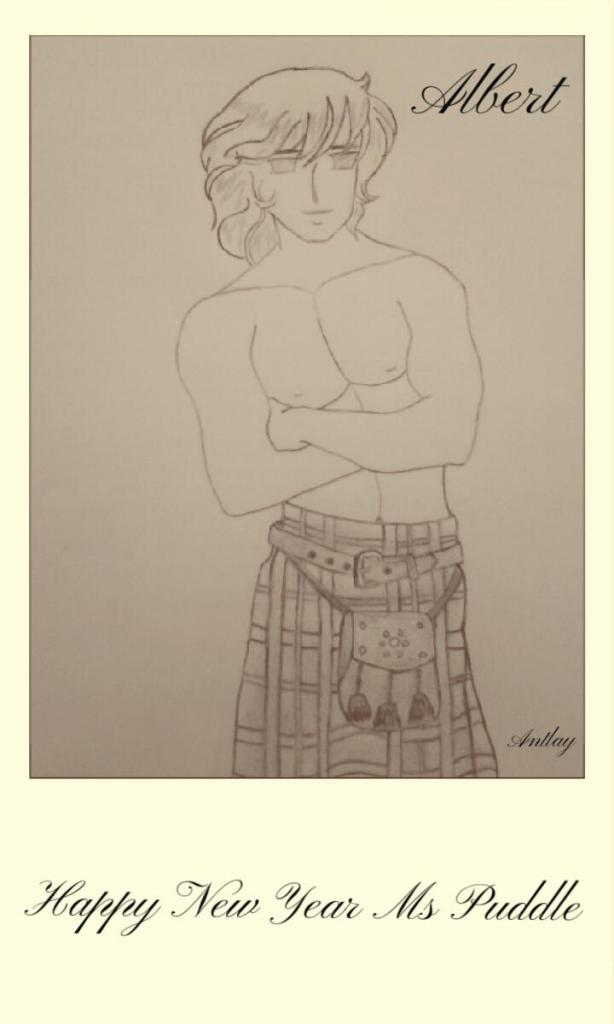 Antlay drawing of Albert
