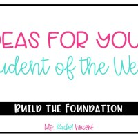 Ideas for Student of the Week