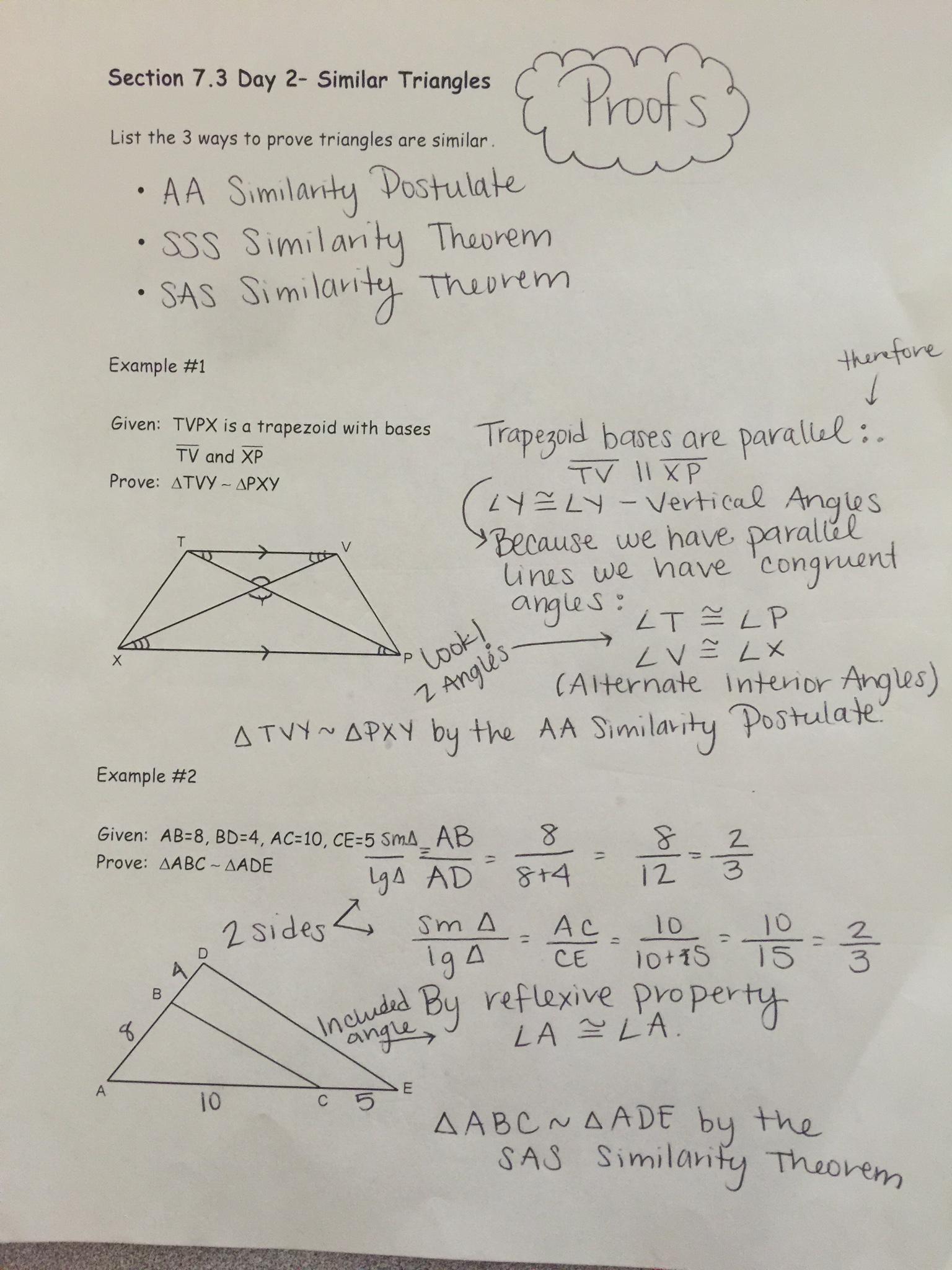 Unit 7 Ratios Amp Proportions Similarity Amp Dilations