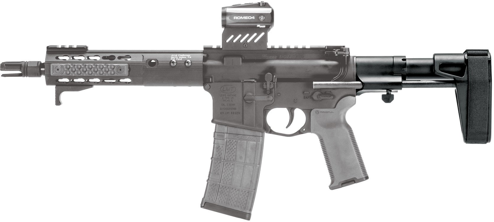 SB Tactical SBPDW Pistol Stabilizing Brace (Options)