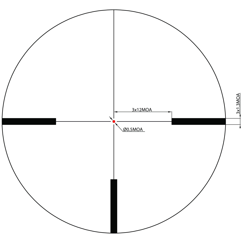 Shepherd Scopes Salvo Series Scope 3-12x56 Illuminated Red Dot