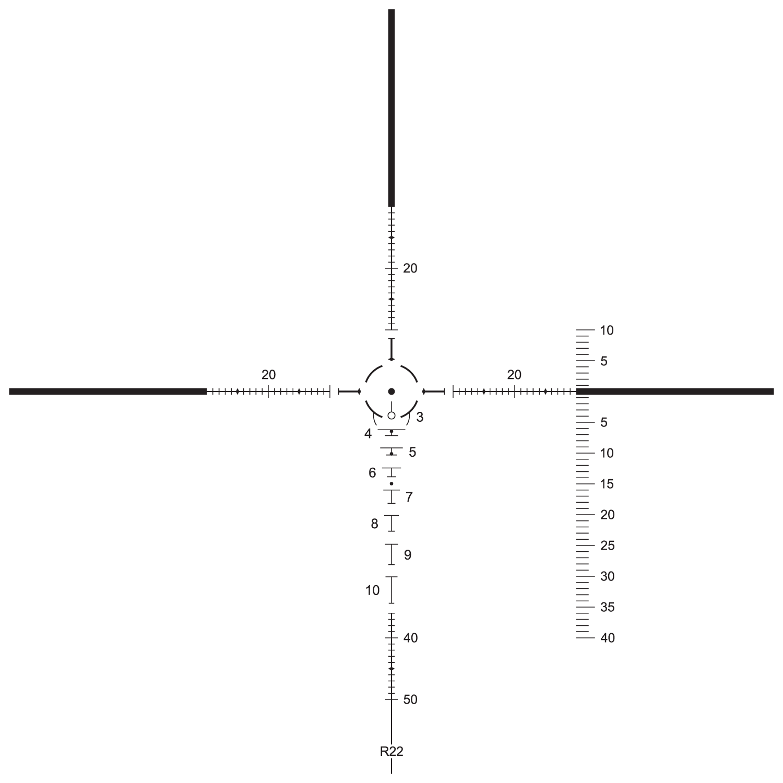 Shepherd Scopes Rugged Series Scope 3-9x40 FFP R-22 Reticle