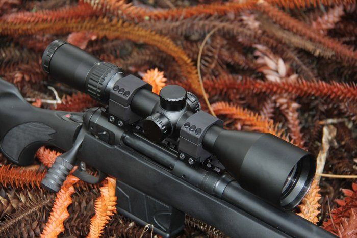 Shepherd Scopes Salvo Series Scope 3-12x56 Illuminated Red Dot