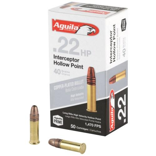 Aguila Ammunition 22LR 40GR Interceptor Hollow Point 50 Round Box - MSR Arms