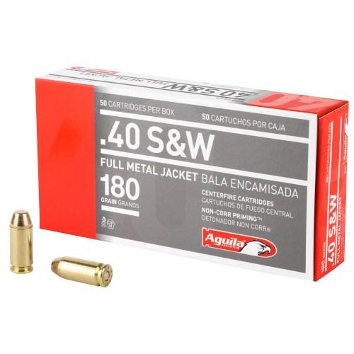 Aguila Ammunition 40 S&W 180GR FMJ 50 Round Box - MSR Arms