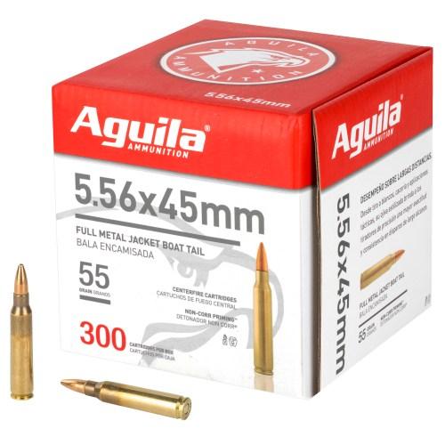 Aguila Ammunition 5.56 NATO 55GR FMJBT 300 Round Box - MSR Arms