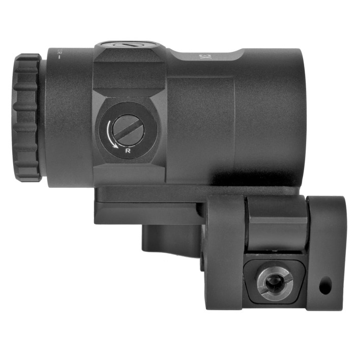 Trijicon MRO HD 3x Magnifier With Adjustable Height Quick Release Flip Mount - MSR Arms