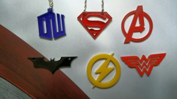 MsRetroDesigns Superhero Necklaces