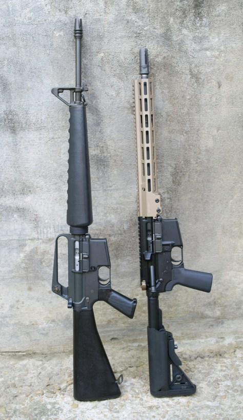 old and new AR15