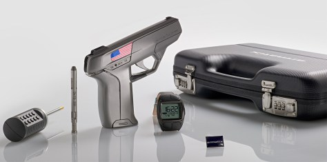 The Armatix iP1 has a theoretic ability to prevent unauthorized use. It could set in motion state laws (such as in New Jersey) that will mandate similar technology on all firearms. Photo from Armatix.